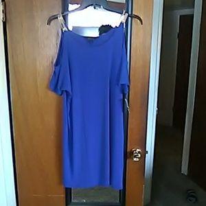 Mini cold shoulder dress